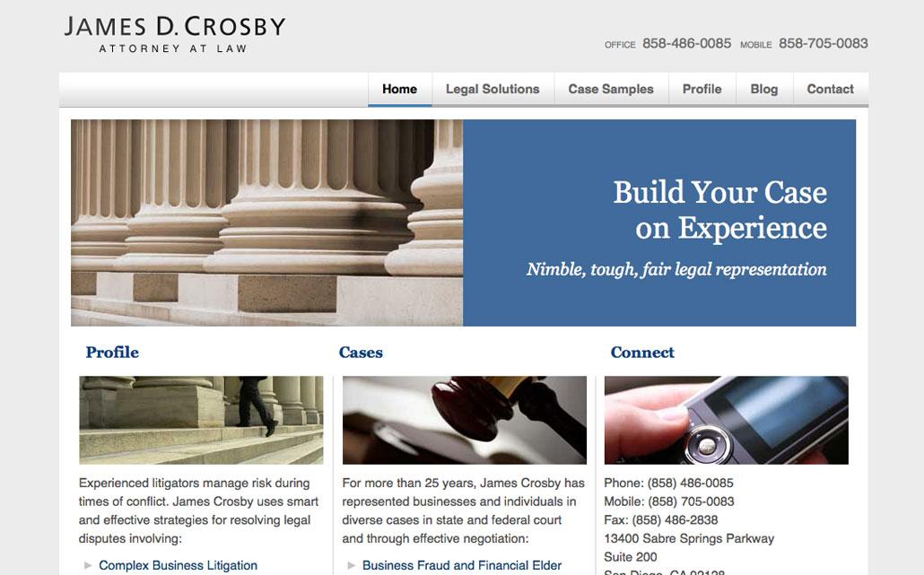 Website design and development for San Diego attorney