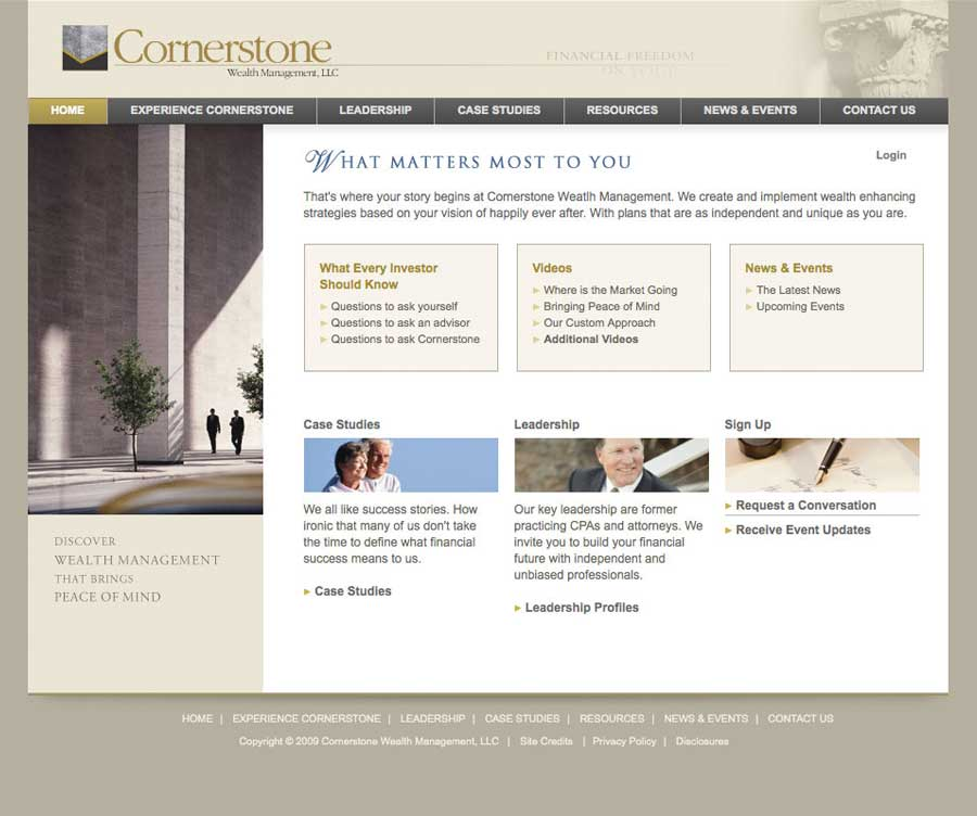 Financial Advisor Website Design | Evolution Design Portfolio