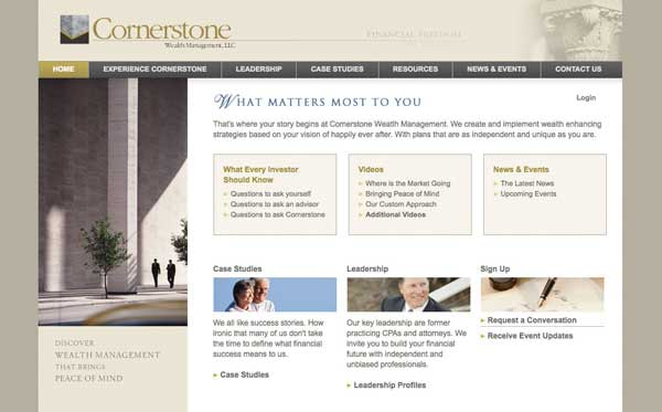 Website design for San Diego wealth management company