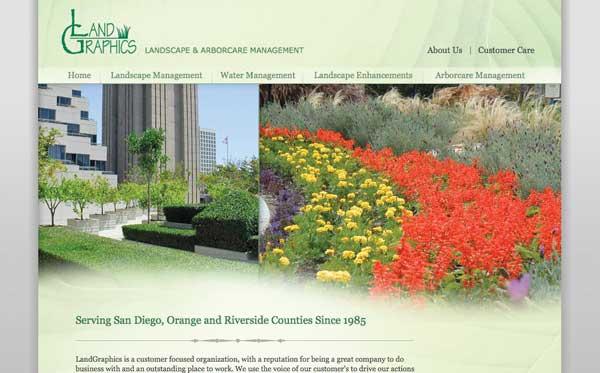Website design for landscape maintenance company