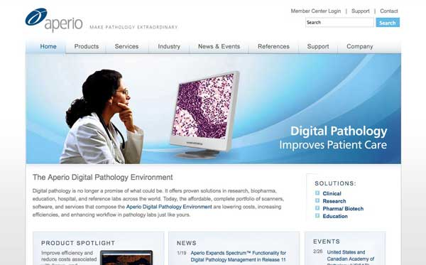 Website design for Carlsbad medical company