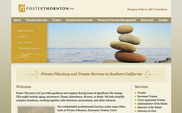 Website design and development for professional services firm