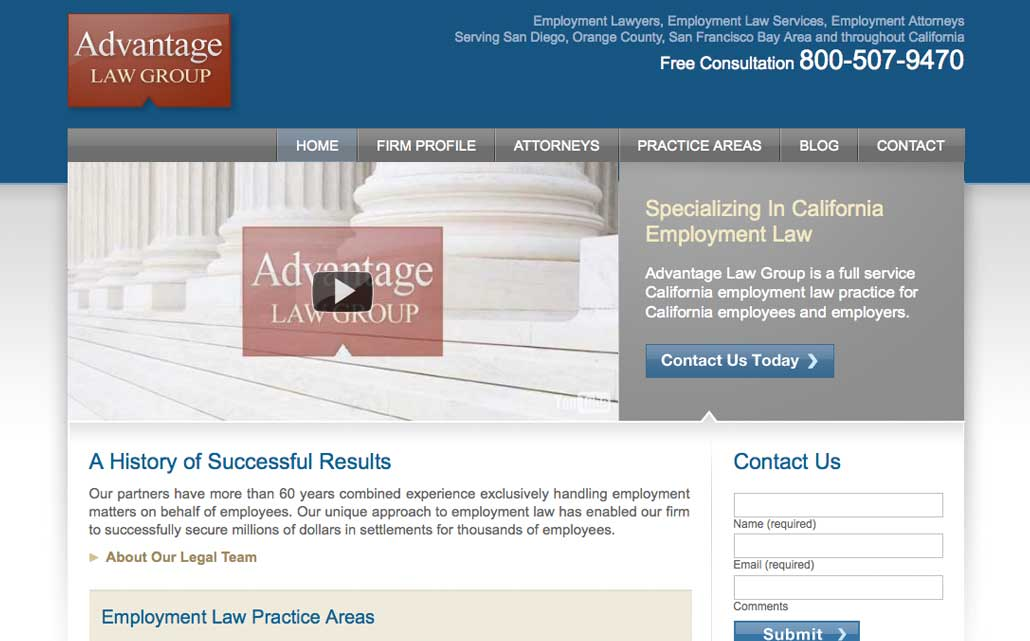 Mobile website design and development for legal firm