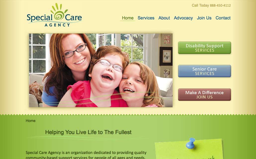 Web design for healthcare services provider