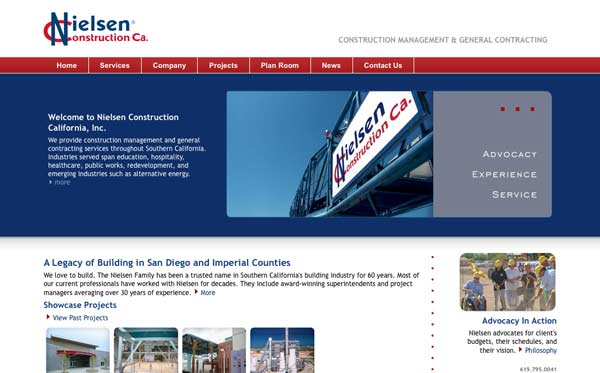 Website design and development for San Diego general contractor