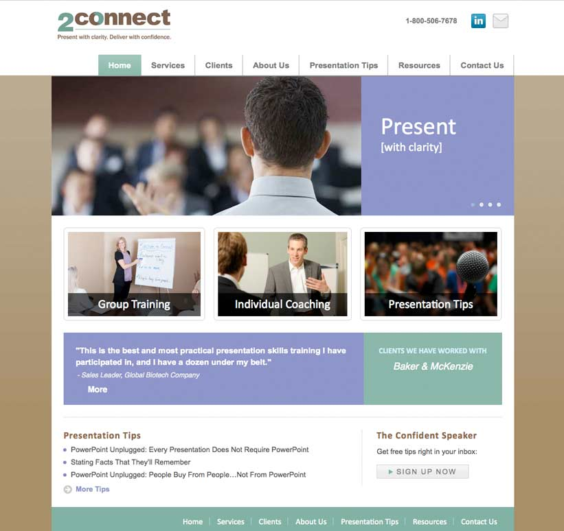 Website Design and Development for Training Company