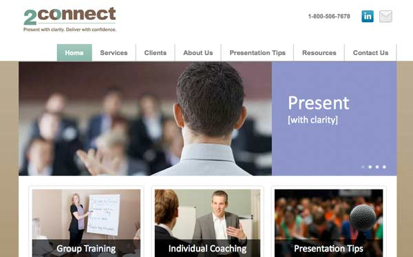 Website design and development for presentation training company