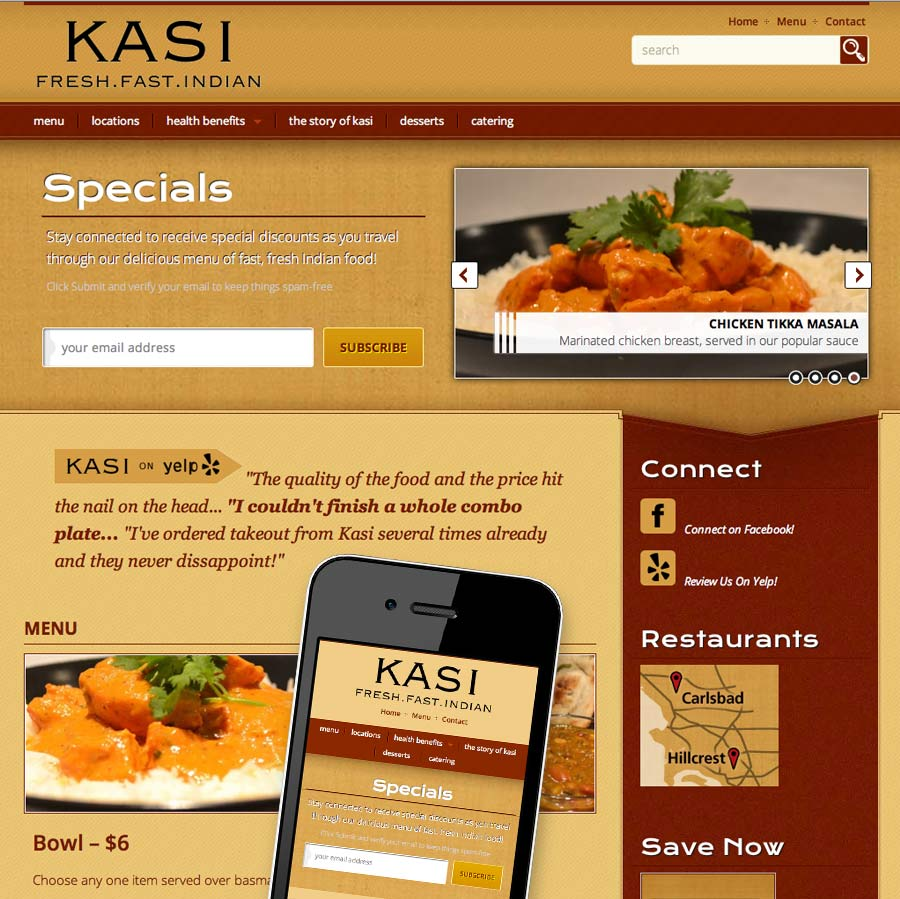 Theme customizations for restaurant website evolution design for Cuisine site