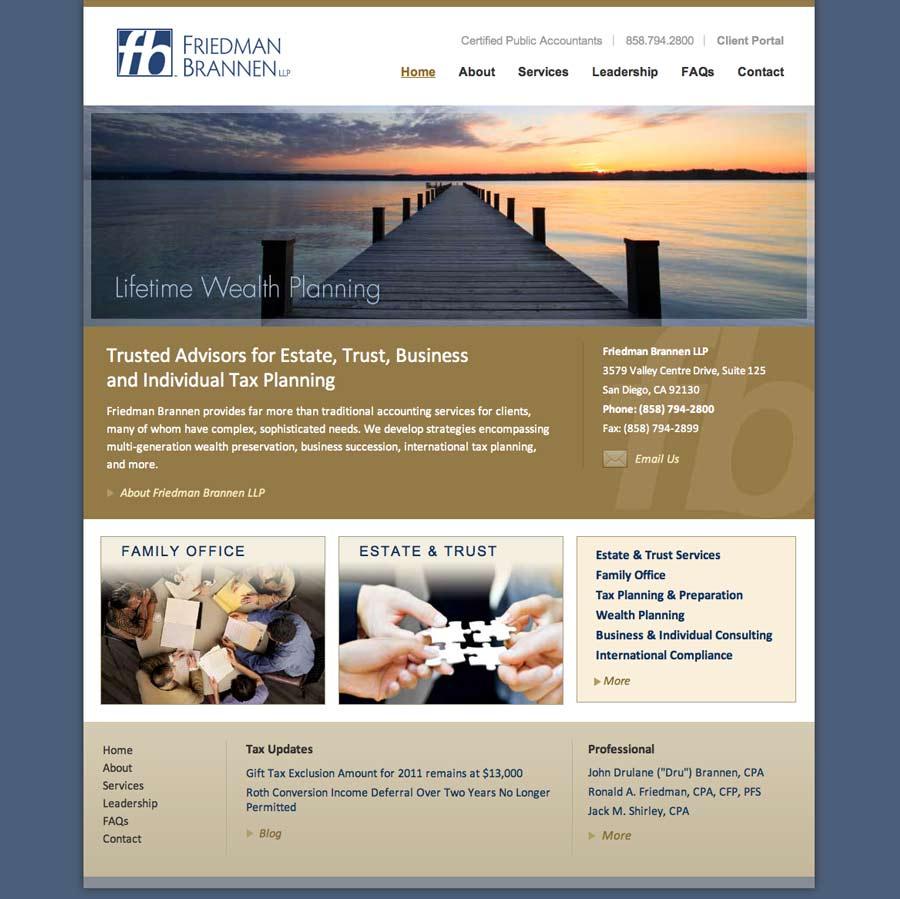 Website Design and Development for CPA Firm | Evolution Design
