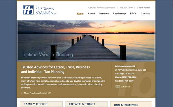 Website design and development for accounting firm