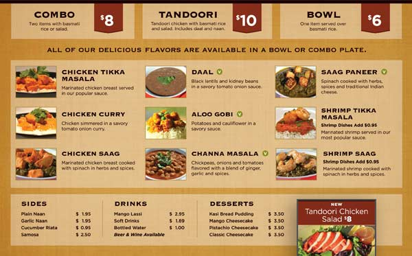 Menu Board Design For Indian Food Restaurant  Evolution Design