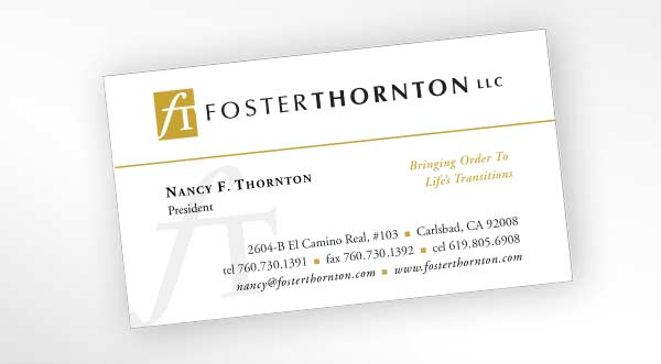 Business card design for San Diego fiduciary