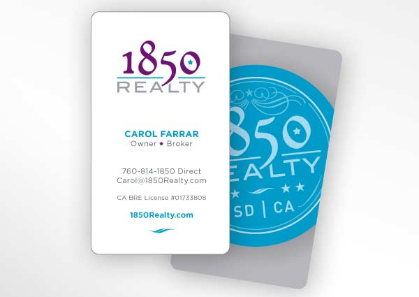 Business card design for San Diego realtor