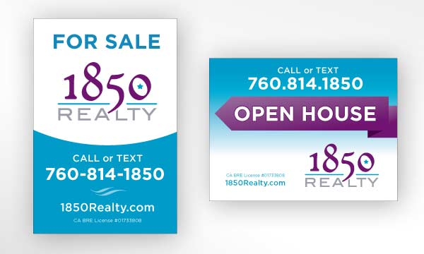 Sign designs for San Diego realtor