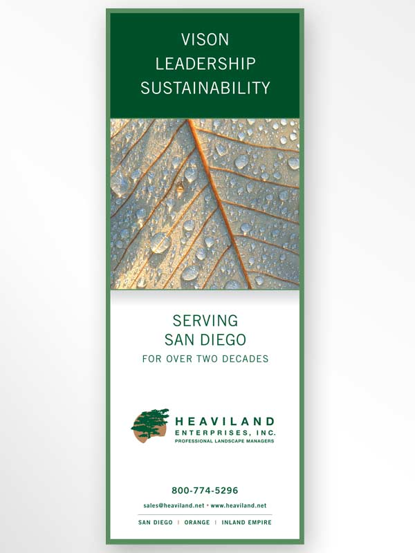 Ad design for Vista landscape maintenance contractor