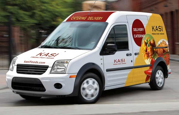 Vehicle van wrap for fast casual restaurant